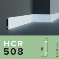 Плинтус из дюрополимера Grand decor HCR 508