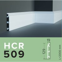 Плинтус из дюрополимера Grand decor HCR 509