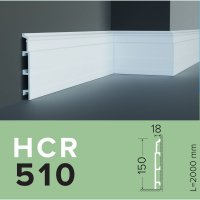 Плинтус из дюрополимера Grand decor HCR 510